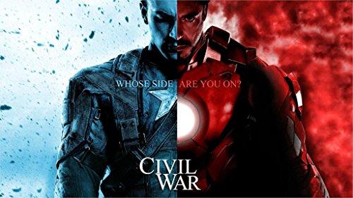 [Prague World Iron Man Captain America 24X36 Inch Poster Print 1] (Captain Murphy Costume)