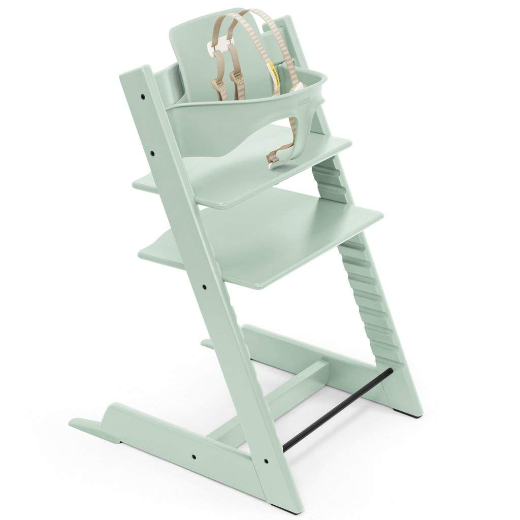 Stokke Adjustable Ergonomic 2019 Tripp Trapp High Chair /& Baby Set Soft Mint