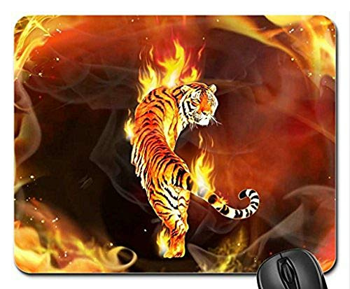 Mouse mat Gaming Mouse pad Flaming Tiger Mouse Pad, Mousepad