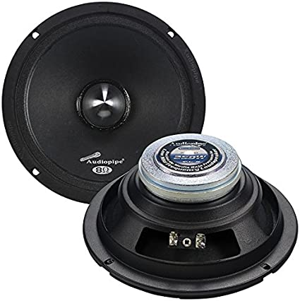 """Audiopipe Midbass 6/"""" 125W RMS Sealed Back Speaker Sold each"""