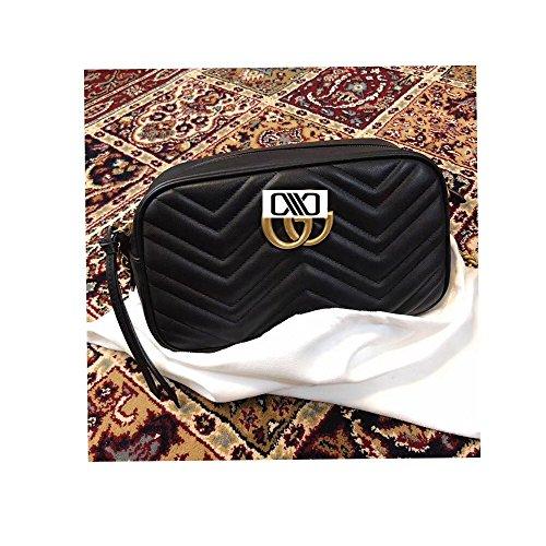 (Marmont Cross-body Bag for Womens Handbag Designer Fashion Single Shoulder Messager Bags -black)