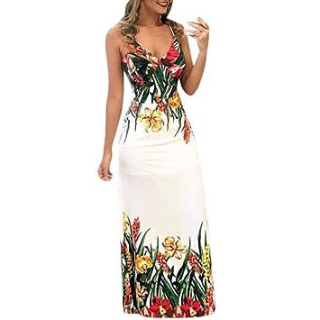 d3a3a64ee LILICAT✈✈ Vestidos Mujer Veranon Vestido de la Vendimia Boho de la  Impresión Cuello Redondo
