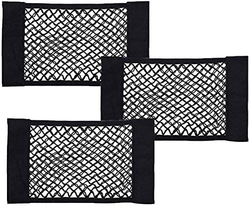 Ledoo Kofferraum Netztasche 4Pcs Auto Organizer Kofferraum Klett,Autonetztasche mit starken Klettstreifen f/ür universal Auto//SUV