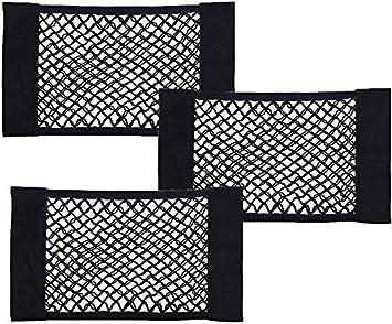 Bestzy Kofferraum Netztasche 3 Stück Universal Netztasche Mit Klett Befestigung Für Universal Auto Kofferraum Gepäcknetz Auto