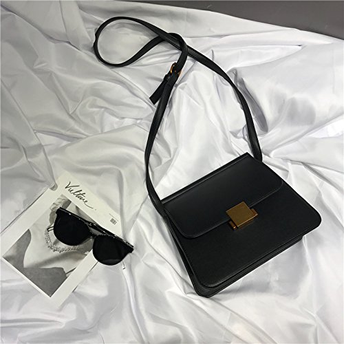 Petit Sac Messenger épaule nbsp;Version marée Fille Noir carré WSLMHH de Sac coréenne Simple la Sauvage wAq8p0