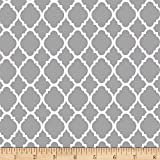 Quatrefoil Grey/White Fabric By The Yard