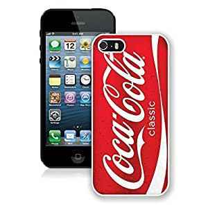 New Fashion Custom Designed Cover Case For iPhone 5S With Red Soda Style Coca Cola WhitePhone Case