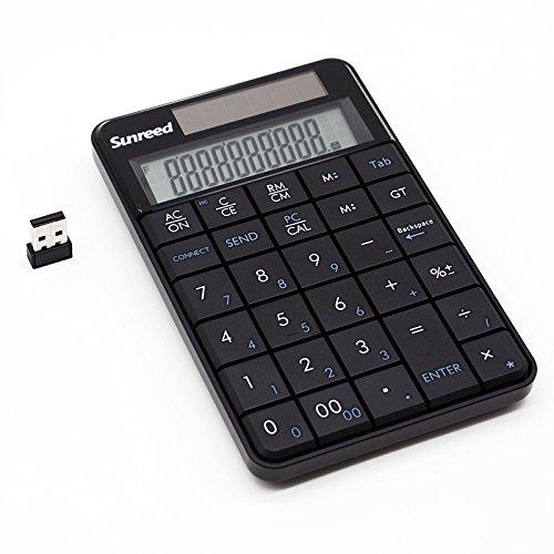 Sunreed,Mini 2.4G USB Wireless 2 In 1 29 Keys Numeric Keypad Keyboard & Calculator with LCD Display by Sunreed