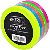 Gaffer Power Spike Tape - Premium Grid and Line Striping Adhesive Tape | Dry Erase Tape for Whiteboard | Art Tape| Pinstripe Tape for Floors, Stages, Sets, Metal | 5 Colors - ½ inch by 20 yards each