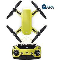 SopiGuard APA Gloss Lime Green Precision Edge-to-Edge Coverage Vinyl Sticker Skin Controller 3 x Battery Wraps for DJI Spark