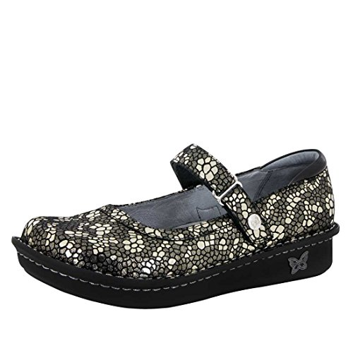 Alegria Women's Belle Mary Jane Flat Pewter Mosaic