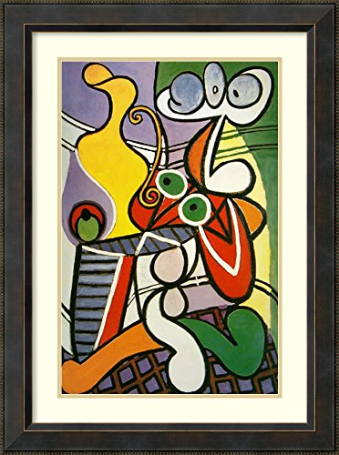 Framed Art Print 'Large Still Life with a Pedestal Table, 1931' by Pablo Picasso -