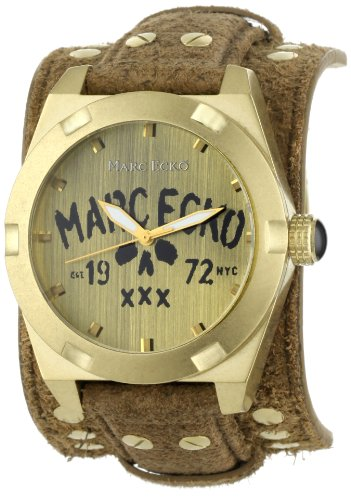 Marc Ecko Men's E13514G2 The Rock Brown Leather Cuff Watch