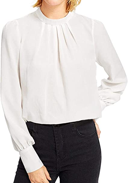 Les blusa mujeres, xinantime Otoño Invierno Moda Solid manga ...