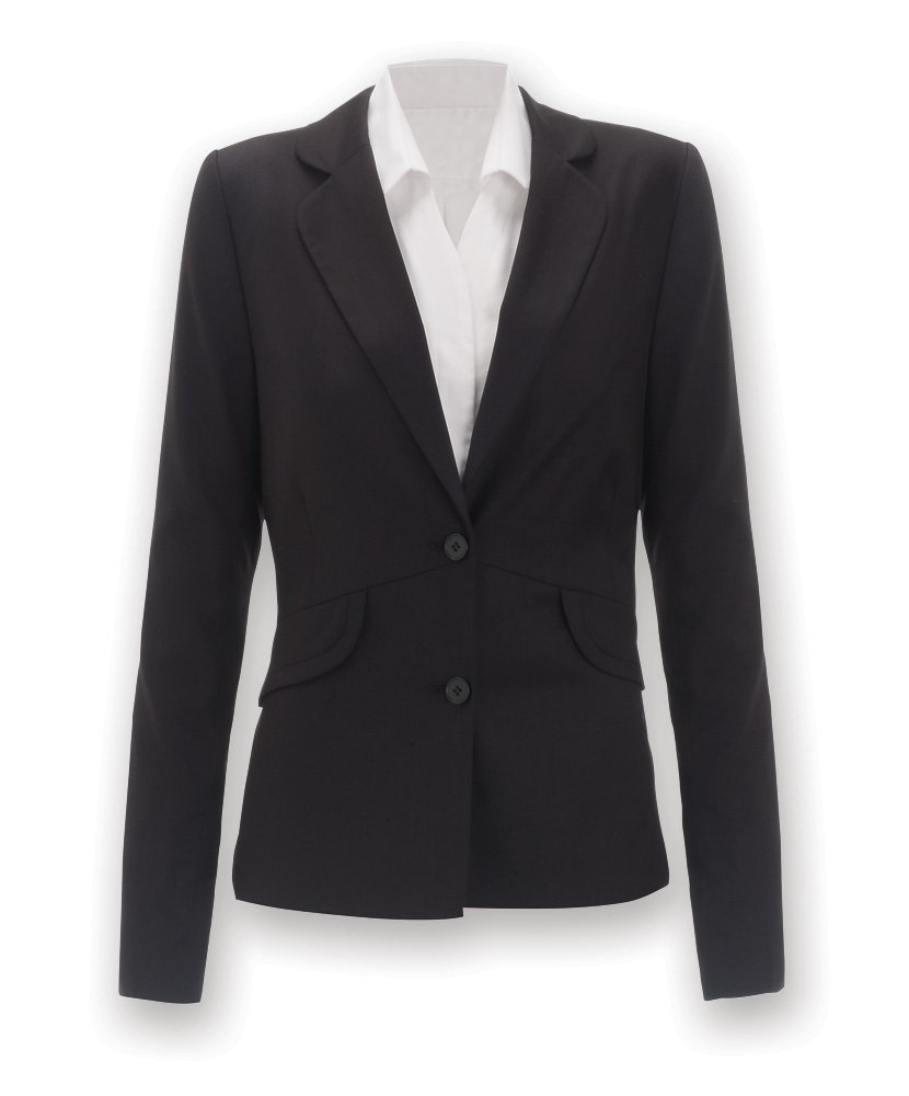 Icona by Alexandra Workwear Womens Icona Two Button Jacket Black 6 R