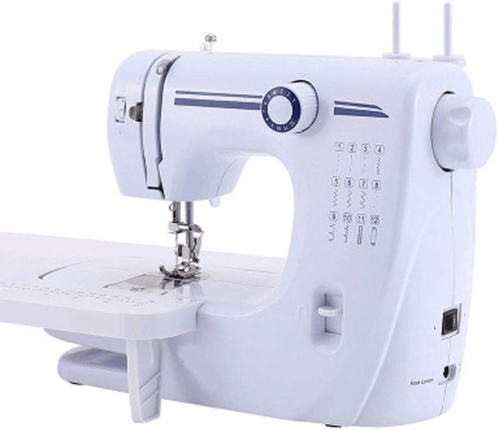 JIAAN Máquina de Coser Eléctrica Sewing Machine Maquina de Coser,Blanco La Mini Máquina De Coser Portátil De La Máquina De Coser De La Mano Viste La Tela Quick Sew