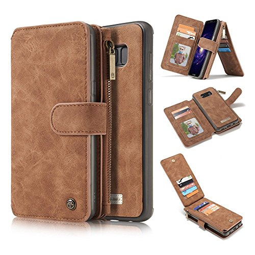 Hulorry Wallet Case for Galaxy S8 Plus, Wallet Case with Card Slots Money Pocket PU Leather Shockproof Protection Case Drop Resistant Cover Smart Heavy Duty Sleeve for Samsung Galaxy S8 Plus by Hulorry