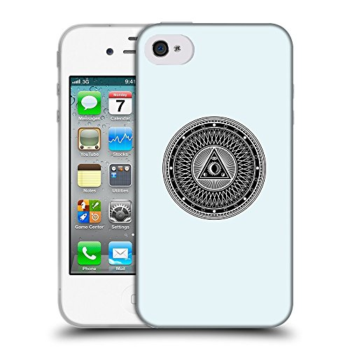 GoGoMobile Coque de Protection TPU Silicone Case pour // Q08220619 Mystique occulte 1 Bulles // Apple iPhone 4 4S 4G
