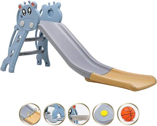 Tobogán Toboganes y trepadores para niños Tobogán para niños Tobogán para niños Montaje fácil, Escaleras fáciles de Subir y Juegos con Anillos, bebés de 0 a 4 años (Color : Blue): Amazon.es: Hogar
