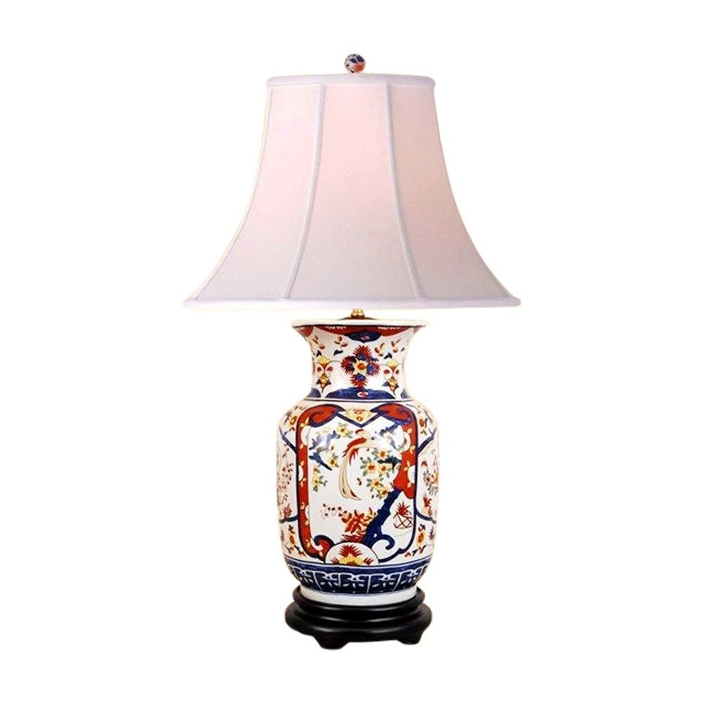 Chinese Porcelain Vase Floral Imari Motif Table Lamp 30''