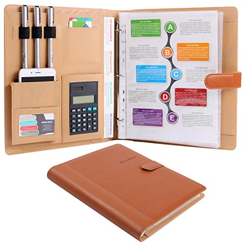 PLINRISE Multifunction Portfolio Folder Document Calculator