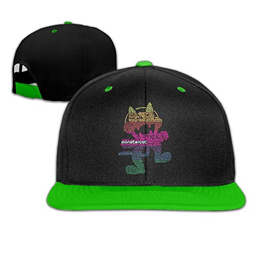 Nquqiyilu Mens Monstercat Logo Classic Baseball KellyGreen Caps Adjustable Snapback