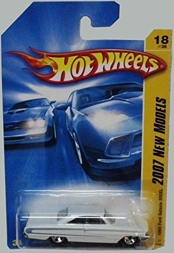 2007 New Models -#18 1964 Ford Galaxie 500XL Pearl White K-Mart Exclusive #2007-18 Collectible Collector Car Mattel Hot Wheels