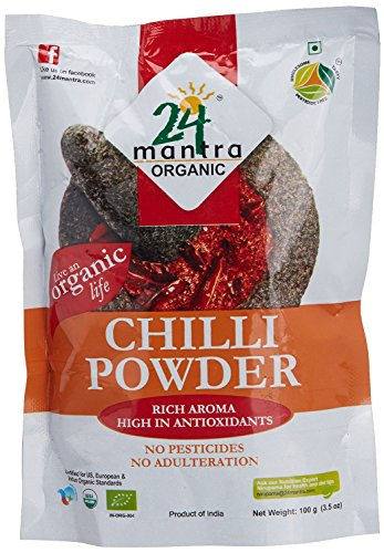 Organic Chili Powder - Chilli Powder - 1 lb(16 Onces) - USDA Certified Organic - 24 Mantra Organic ()