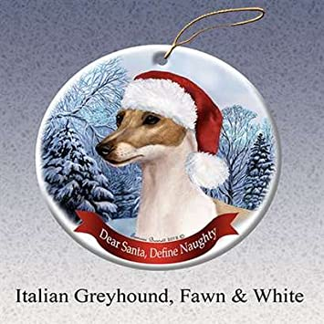 Image Unavailable - Amazon.com: Holiday Pet Gifts Italian Greyhound, Fawn And White Dog