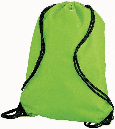 Euro Turnbeutel Sportbeutel Gymsac im 15 Farben (Apple Green)