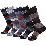 Marino's Men Design Dress Socks, Cotton Socks, 5 Pairs W/ Elegant Gift Box - Circular Collection - 10-13