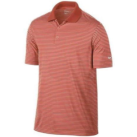 Amazon.com  Nike Golf Victory Stripe Polo - Turf Orange White S ... 406d210a5
