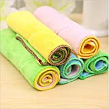 Yosoo Dish Cloth Towel,10 Pack - Bamboo Fiber Dish Towel Kitchen Clean Towels Dishcloth Household Wash Rag, 10.2 x 6.2