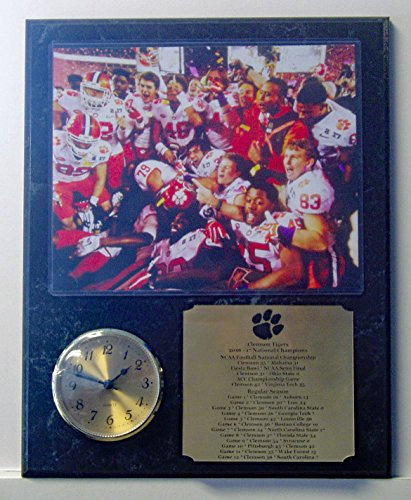 GFSF University of Clemson Tigers National Championship Team 8x10 Photo Clock Plaque with Engraved Nameplate Champions