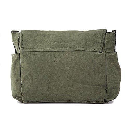 Always Harry Potter Decal Canvas Messenger Shoulder Bag, Olive & White