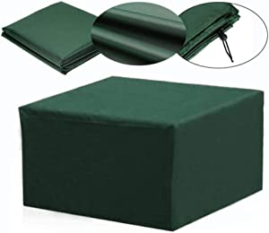 HLIGHT Furniture Set Covers Waterproof Outdoor Garden Furniture Set Covers Covers for Wicker Sofa Protection Set Table Lounge Patio Rain Snow Dustproof Covers,Green,123x 61x72cm