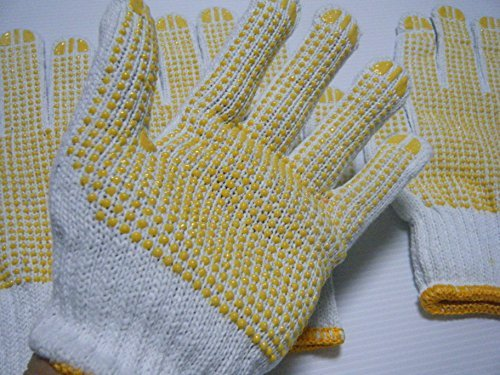 Work gloves GUNTE with anti-skid 2pairs made of cotton free size.