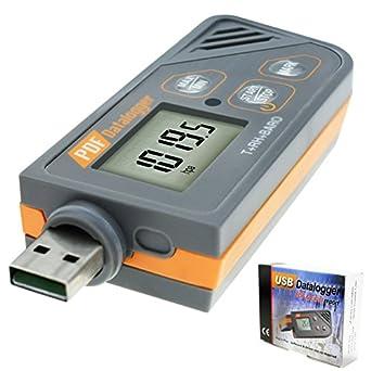 Amazon.com: Registrador de datos de USB Digital Humedad ...