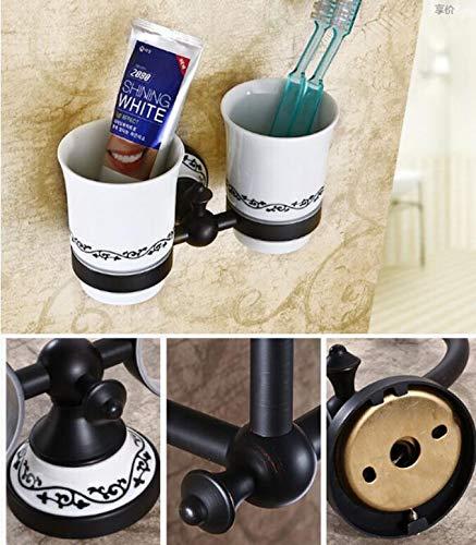 KIEYY Diseño moderno cepillo de dientes titular de baño Accesorios Organizador cepillo de dientes titular de montaje en pared de cerámica Copa, ...