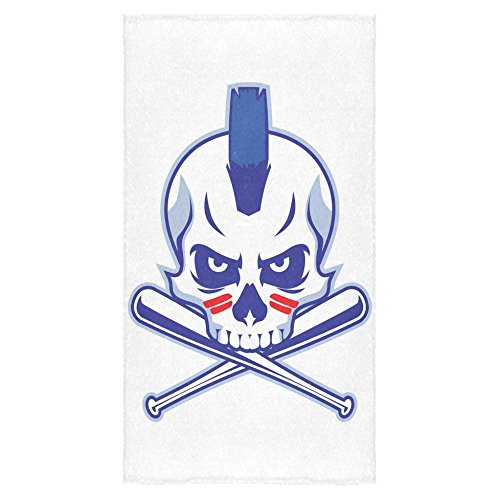 ADEDIY Fashion Custom Towel Skull Bath Towel 30x56 Inch Bath