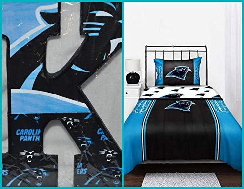 Carolina Panthers Inspired Wooden Letters Wall Décor