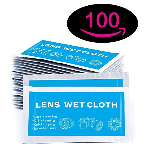 """Price comparison product image Pre-Moistened Screen Wipes - 8"""" x 5"""" Screen Cleaning Wipes, Surface Cleaning for Cameras, Cell Phones, Smartphones, LCD Screens and more - Quick Drying, Streak-Free, Ammonia-Free - Electronic Wipes"""