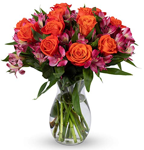 Benchmark Bouquets Radiant Roses and Alstroemeria, With...