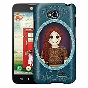 LG Ultimate 2 Case, Slim Fit Snap On Cover by Trek Button-Eyed Suzzie Case