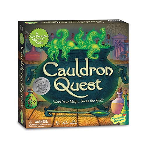 Halloween Cauldron Spells (Peaceable Kingdom Cauldron Quest Cooperative Potions and Spells Game for)