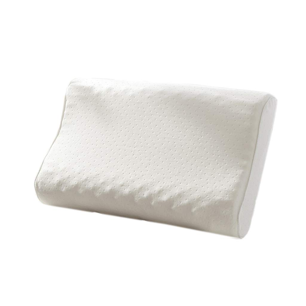 ZHAO YING Latex Pillow Pillow Core Massage Latex Pillow Individual Neck Pillow Adult Cervical Pillow Breathable Pillow (6040cm) (Color : White)