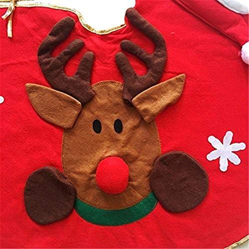 Mlian Weihnachtsbaum Decke Weihnachtsbaum Dekoration Rentier Weihnachtsmann und Schneemann weihnachtliche Christbaum