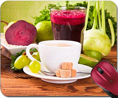 Including Bale - Liili Mousepad ID: 22760193 Breakfast including coffee carrot orange juice muesli and fruits