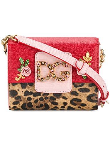 Cuero BB6391AN611HA93M amp; Gabbana Hombro Rojo Mujer De Bolso Dolce 6gUAvWv