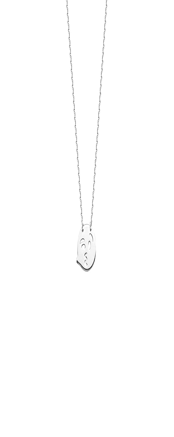 Kiss Blowing Winecklaceing Smiley Face Adjustable Necklace DiamondJewelryNY Smiley Face Pendant